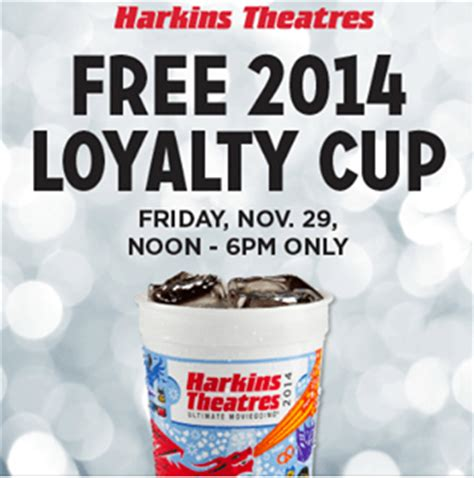 Harkins Gift Card Free Popcorn - harkins free 2014 loyalty cup w shirt purchase friday 12pm 6pm only bargain