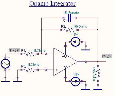 op integrator input and output waveforms op integrator