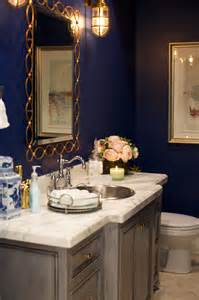 Navy Powder Room My Style At Home The Powder Room Pink Peonies By