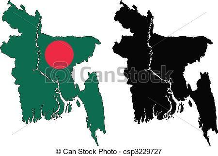 bangladeshi clip vectors illustration of bangladesh vector map and flag