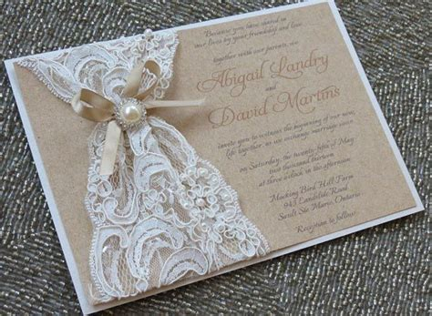 Handmade Lace Wedding Invitations - 25 best ideas about bridal shower invitations on