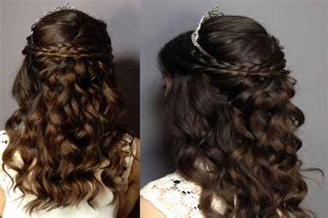 hairstyles braided with curls quinceanera hairstyles with braids and curls svapop