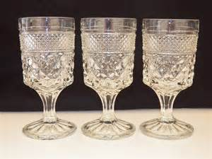 Glass Ware Vintage Glassware Anchor Hocking Wexford Set Of Three