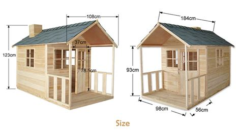 outdoor playhouse wooden cubby house with windows and