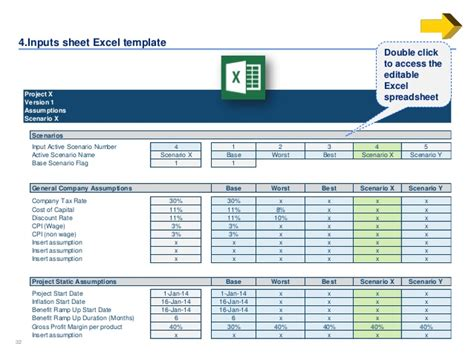 Simple Business Case Template By Ex Mckinsey Consultants Excel Assumptions Template