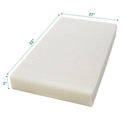 Crib Mattress Memory Foam Topper Milliard 2 Inch Ventilated Memory Foam Crib Toddler Bed Mattress Topper With X Ebay