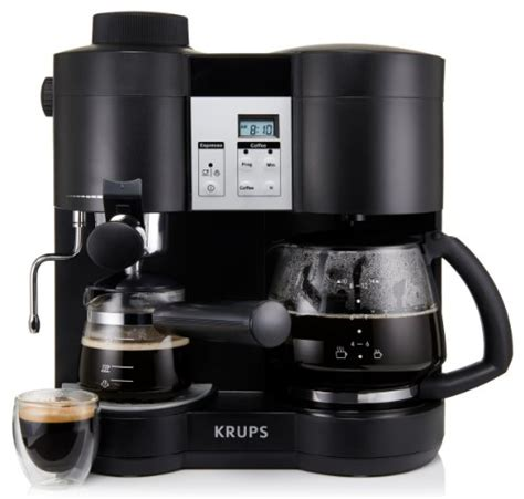 KRUPS XP1600 Coffee Maker and Espresso Machine Combination, Black New   eBay
