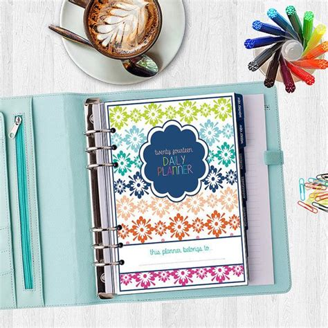 daily planner cover printable 2017 daily planner cover page all 10 designs for one