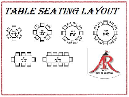 8 rectangular table seats how many abso rental services inc table seating layout linen