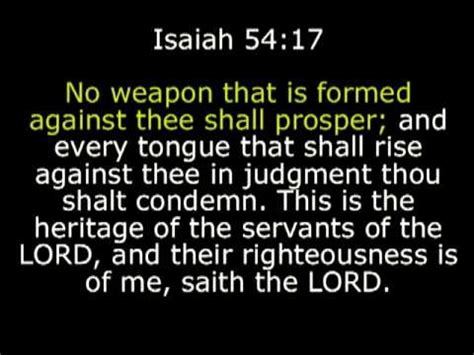 no weapon that is formed against thee shall prosper
