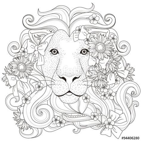 lion coloring page for adults vektor lovely lion coloring page how cool is this