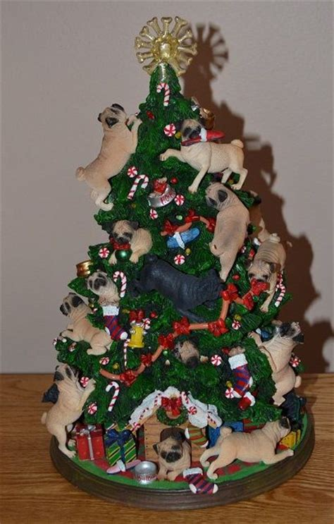 pug christmas tree my pug collection pug