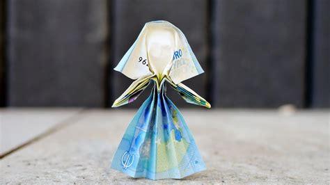 braut aus geldscheinen falten geldgeschenk zur hochzeit origami braut aus beliebigem