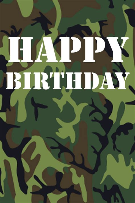Camouflage Birthday Cards