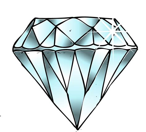 diamond drawing clipart kid cliparting com