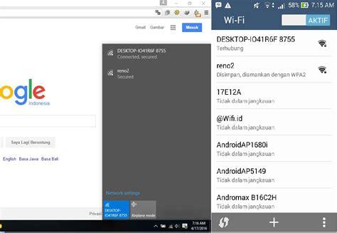 membuat portable hotspot di laptop windows 7 cara mudah sharing internet dengan mobile hotspot di