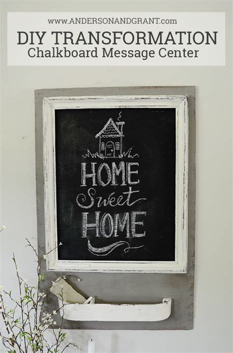 diy chalkboard message board trash to treasure chalkboard message center