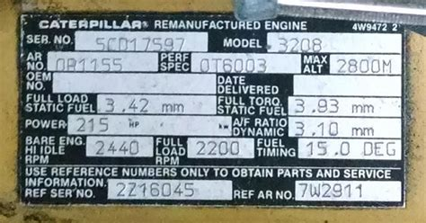 kenworth part number lookup cat 3208 engine serial and arrangement numbers how to find