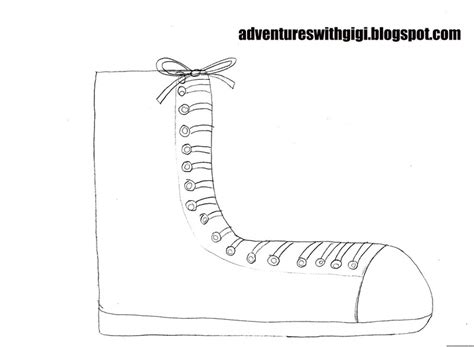 Pete The Cat Shoe Template by Adventures With Gigi Pete The Cat