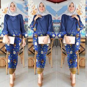 Setelan Baju Wanita Kebaya Kutu Baru Anila Set setelan baju kebaya dan rok motif batik muslim panjang