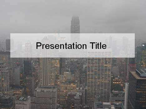 will template new york new york skyline powerpoint template