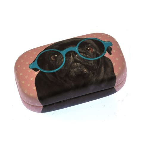 pug in glasses black pug in blue glasses jewellery contact lens pink cat shop