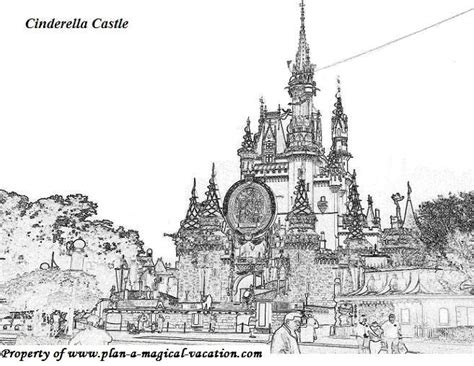 coloring pages disney castle coloring pages disney coloring page 006 features