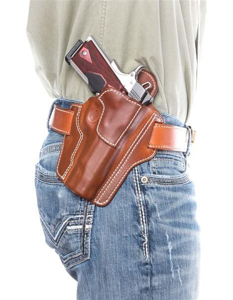 Handmade Leather Pistol Holsters - leather concealed carry pancake holster d custom