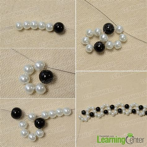 free easy seed bead patterns how to make an easy black and white beaded bracelet with