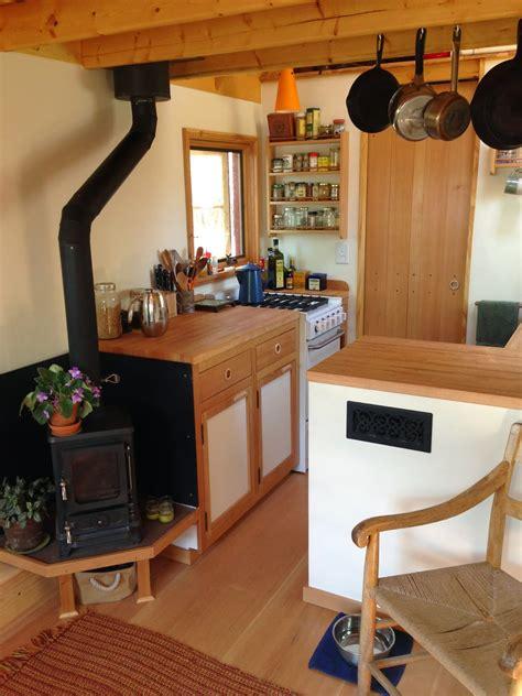 kenny amp esther tiny house gets loft ladder living full kitchen nation unique