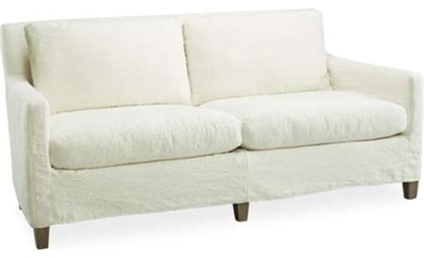 slipcovered apartment sofa modern sofas by lee