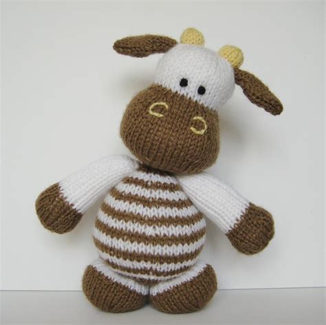 knit toys milkshake the cow knitting pattern on luulla