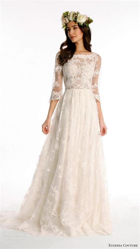 Aline Sleeve aline wedding dresses quarter sleeve and couture on