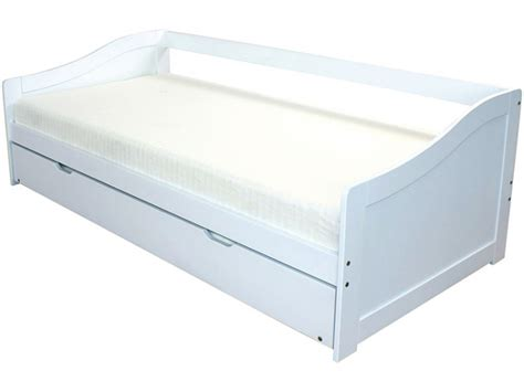 Gfw Oregon 3ft Single White Wooden Day Guest Bed Frame By Gfw Single White Bed Frame