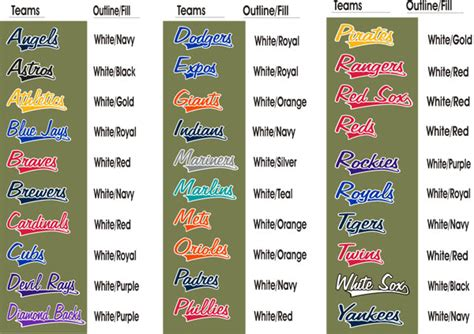 cool color names colorful team names images