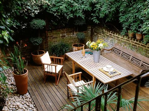 Decking Ideas Small Gardens Landscaping Ideas For Deck Gardens Hgtv