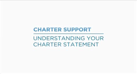 tip understanding your charter statement
