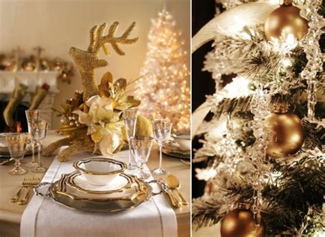 elegant christmas table setting with pink and gold gold christmas home decoration design your sparkling holiday
