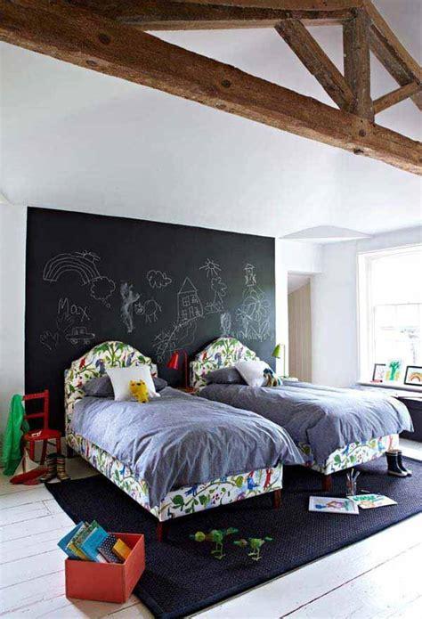 desain kamar dinding papan ide kreatif papan tulis di kamar anak kumpulan desain
