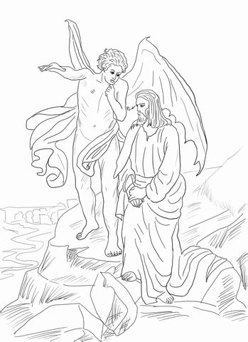 coloring page jesus in the desert 10 images of 40 days in the desert coloring pages jesus