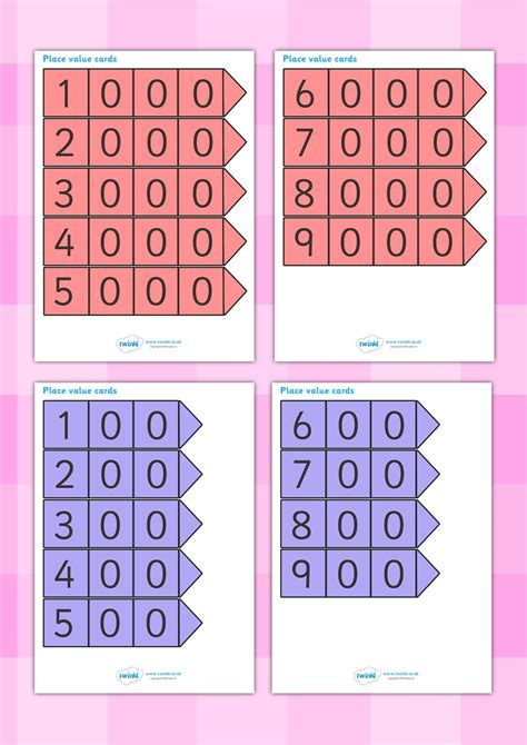 number place value cards printable twinkl resources gt gt place value arrow cards gt gt classroom
