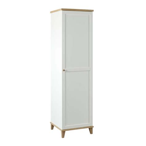 Small Single Wardrobe Boston Lyon Wardrobe White Ash 1 Door At Wilko