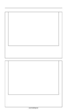 Printable Paper Net Storyboard | printable storyboard with 1x2 grid of 3 2 35mm photo