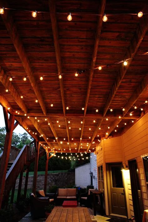 ideas  outdoor patio lighting  pinterest patio lighting backyard lighting
