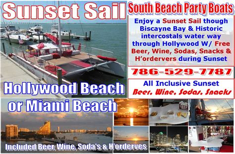 flyer catamaran excursions miami star island sunset 9 11pm cruise south beach party boats