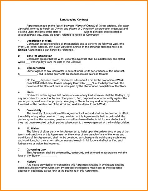 Sle Landscape Maintenance Contract landscape contract cancellation letter 28 images sle termination letters 8 termination of