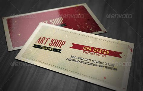 Vintage Business Card Template Psd by 25 Cool Psd Retro Vintage Business Card Templates