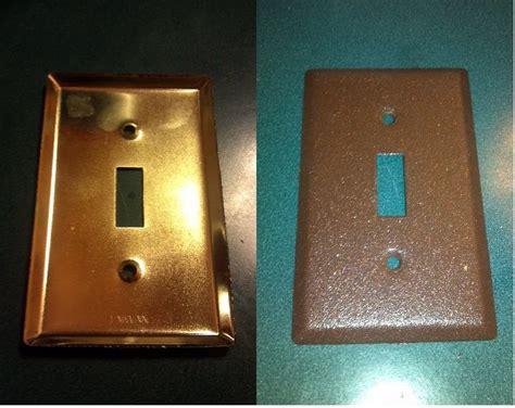 gold light switch covers gold light switch covers before spray painted rustic