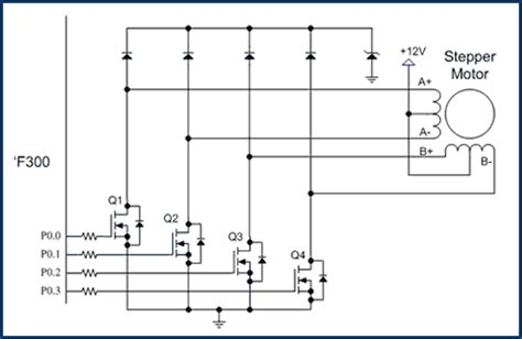 transistor bipolar stepper motor driver motor applications silicon labs