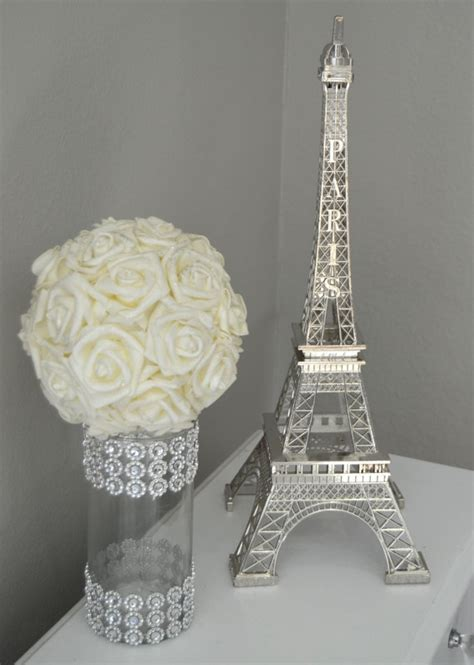 eiffel tower centerpiece parisians theme decor wedding